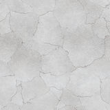 Plastered cracked wall. White plastered wall background or texture Stock Photography
