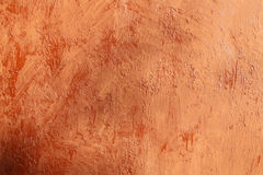 Plastered terracotta wall Stock Image