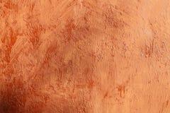 Plastered terracotta wall Stock Image