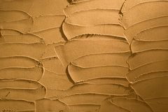 Plastered wall. Interesting plastered wall design. Night scene Stock Photography