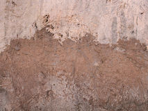 Plastered Wall in The Beach Royalty Free Stock Photos