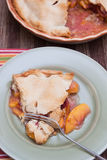 Plasterek świeży brzoskwinia kulebiak Zdjęcie Stock