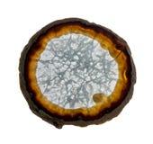 Plasterek agata kryształ na białym tle Obrazy Stock