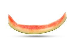 Plasterek arbuz skórka po jedzący up na białym tle zdjęcie royalty free