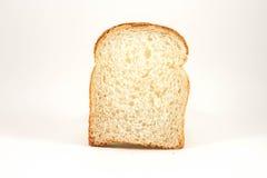 Plasterek biały chleb fotografia stock