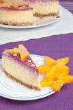 Plasterek cheesecake Fotografia Royalty Free