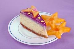 Plasterek cheesecake Obrazy Stock
