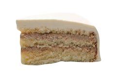 Plasterek cheesecake na bielu zdjęcie stock