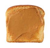 Plasterek chleb z masłem orzechowym zdjęcie stock