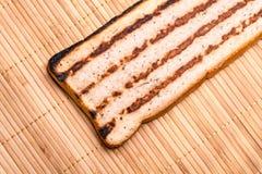 Plasterek chleb z minced mięsem, tradycyjny Bułgarski śniadanie Dzwonił strandjanka lub princess Obraz Stock