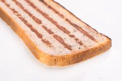 Plasterek chleb z minced mięsem, tradycyjny Bułgarski śniadanie Dzwonił strandjanka lub princess Fotografia Royalty Free
