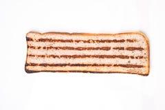 Plasterek chleb z minced mięsem, tradycyjny Bułgarski śniadanie Dzwonił strandjanka lub princess Zdjęcie Royalty Free