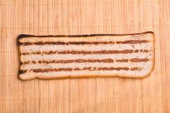 Plasterek chleb z minced mięsem, tradycyjny Bułgarski śniadanie Dzwonił strandjanka lub princess Zdjęcia Royalty Free