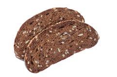 Plasterek czarny żyto chleb odizolowywający zbliżenia eyedroppers wysoka rozdzielczość prawdziwy widok Zdjęcia Stock