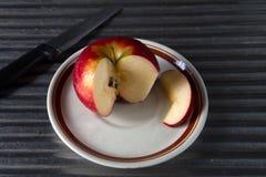 Plasterek czerwony jabłko Zdjęcia Royalty Free