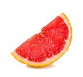 Plasterek Grapefruitowy odosobniony na białym tle zdjęcie stock