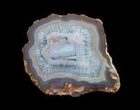 Plasterek multicolor koronkowy agat fotografia stock