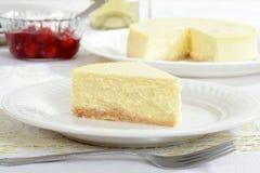 Plasterek nowy York stylowy cheesecake zdjęcia royalty free