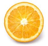 Plasterek odizolowywający pomarańczowa owoc zdjęcia royalty free
