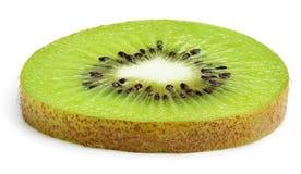 Plasterek odizolowywający na bielu kiwi owoc Fotografia Stock