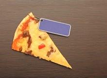 Plasterek pizza Zdjęcie Stock