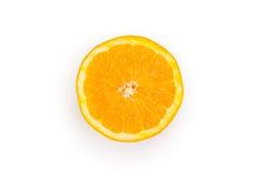 Plasterek pomarańczowy odgórny widok fotografia royalty free