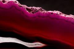Plasterek różowy agata kryształu tło Obraz Stock