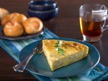 Plasterek serowy i cebulkowy quiche Fotografia Stock