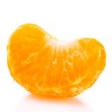 Plasterek tangerine zakończenie na białym tle obrazy stock
