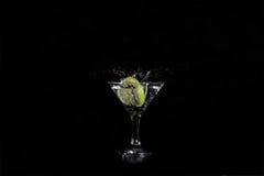 Plasterek wapno woda w szkło Obraz Royalty Free