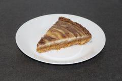 Plasterek zebry cheesecake Obrazy Royalty Free