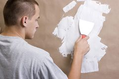 Plasterer Royalty Free Stock Photo