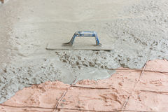 Plasterer concrete cement floor Royalty Free Stock Photography