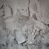 Plasterer concrete on wall of house construction Royalty Free Stock Images
