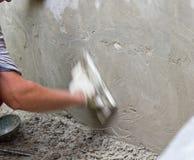 Plasterer plaster overwrites Royalty Free Stock Photo