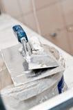 Plasterer tools details Stock Image