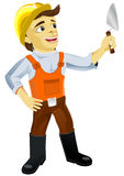 Plasterer with a trowel Royalty Free Stock Photography