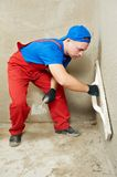 Plasterer at work Royalty Free Stock Photo