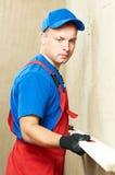 Plasterer at work Royalty Free Stock Image