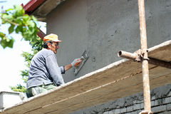 Plasterer Working Royalty Free Stock Image