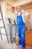 Plasterers de sorriso Fotos de Stock Royalty Free