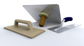 Plasterers tools Royalty Free Stock Photo
