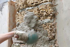 Plastering of coquina Royalty Free Stock Photos