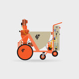 Plastering Machines Royalty Free Stock Images