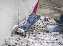 Plastering mortar Royalty Free Stock Photo