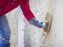 Plastering mortar Stock Image