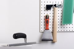 Plastering tools Stock Image