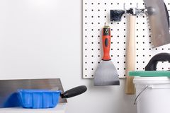 Plastering tools Royalty Free Stock Photos
