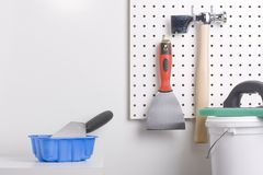 Plastering tools Royalty Free Stock Photo
