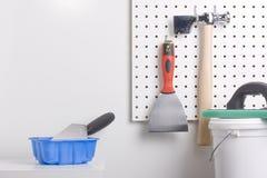 Plastering tools Royalty Free Stock Photo